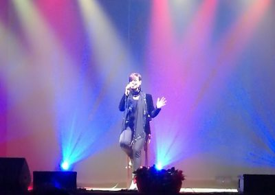 Stefania Cuneo performing at the San Rocco Theater in Seregno