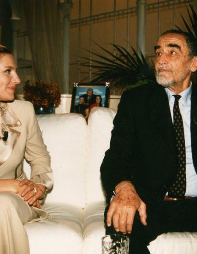 Stefania Cuneo at Tappeto volante TMC with Vittorio Gassman