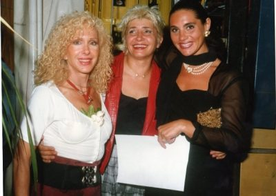 Stefania Cuneo with Aida Cooper and Wanda