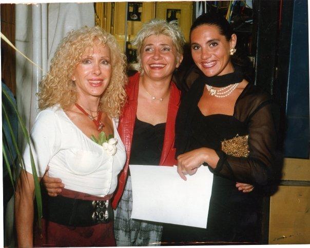 Stefania Cuneo con Aida Cooper e Wanda